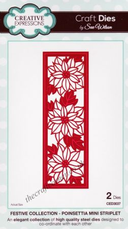 Poinsettia Mini Striplet - Festive Collection Craft Dies by Sue Wilson CED3037